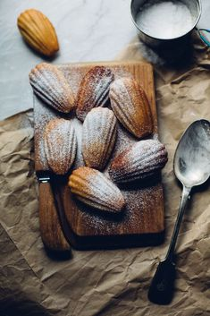 Orange Zest Madeleines /
