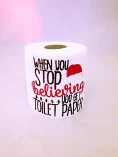 Christmas Joke Gift, Christmas Gift, Stocking Filler, Embroidery Loo Roll, Embroidered Toilet Paper, Xmas Gift, Secret Santa, White Elephant by RollWithItDesigns on Etsy