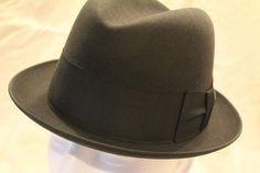 c60f3ed31ae Vintage Black 3X Towncraft Fedora Trilby Homburg Dress Hat Size 6 3 4 to 6 7  8