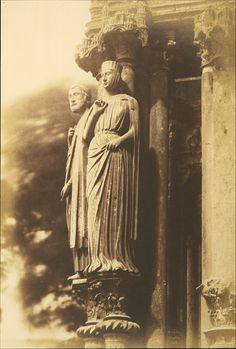 Large Figures on the North Porch, Chartres Cathedral] by Henri-Jean-Louis Le Secq,The Met's Photography Department