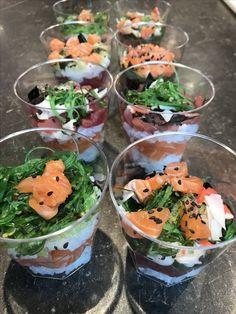 Sushi glaasje www.brandvisspecialiteiten.nl