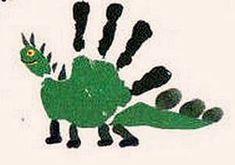 Como hacer un Dragón con Pintura de Dedos