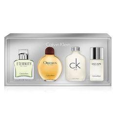 Calvin Klein 4pc Mini Gift Set Eternity Obsession CK One Escape Cologne for  Men  CalvinKlein 9504daa91e