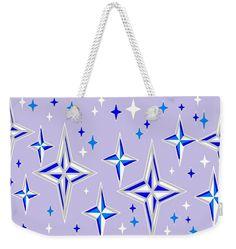 Weekender Tote Bag of 'Starlight 11' by Sumi e Master Linda Velasquez.