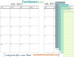 5 Days of Tina's 7 Step DIY Curriculum Planner: Day 5 - Appointment Keeper Calendar. Academic School Year