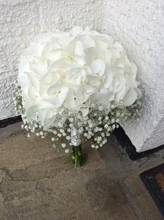 White Hydrangea and Gypsophila Bouquet by Add Style UK