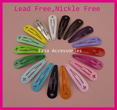 """Find More Hair Accessories Information about 50PCS 4.0cm 1.5"""" Assorted Colors plain Round Head Metal Snap Clip with Cross Hook at lead free nickle free,DIY hair clips kid,High Quality diy hair clips,China metal snap clip Suppliers, Cheap hair clip from Accessories for Luxury Hair Jewelry--Susan' store on Aliexpress.com"""