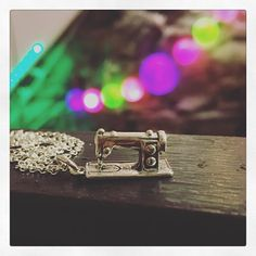 Sterling 925 silver seeing machine necklace ..  #maker  #MAgne #makers #artists #designers #dublin #ireland #templebar #inspiration #sewingmachine #handmadejewellery #style #disco #lovelife #loveeachother #neverstop