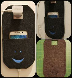 #phone #charging # wall # holder #diy #felt