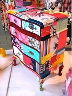 Pretty decoupage & painted chest