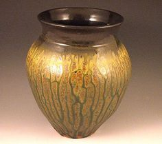 By Brian Dean - Layered  Sprayed Glazes using Steven Hill Techniques  Val Cushing G4 Ash Glaze - Cone 6 Oxidation: