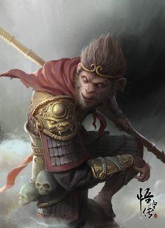 WUKONG, wang xiao on ArtStation at https://www.artstation.com/artwork/y3Yzn