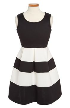 Roxette Colorblock Skater Dress (Big Girls) available at #Nordstrom