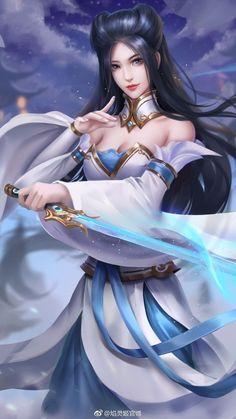 Fantasy Women, Fantasy Girl, Fantasy Warrior, Beautiful Fantasy Art, Beautiful Anime Girl, Girls Characters, Female Characters, Female Character Design, Character Art