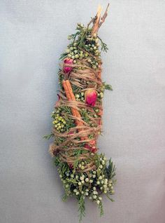 icu ~ Pin on Herbs & Oils ~ 8 Fat Cinnamon Rose Smudge Stick Wand with Virgina Wiccan, Magick, Witchcraft, Pagan, Cedar Smudge, Marijuana Plants, Smudge Sticks, Rose Buds, Gardens