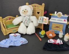Fisher Price Briarberry Collection Bears And Furniture clothes Accessories Lot…