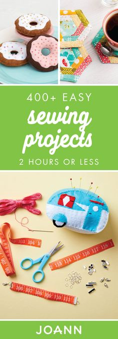Break out your sewing machine and begin creating fun new DIY projects with the help of these 400+ Easy Sewing Projects from JOANN. Each taking 2 hours or less, you have time to take your beginner sewing skills up a notch.