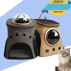Fashion Travel Accessory Feather Space Capsule Transport Cat Bag for Small Cat - Carrier Crate Cage Cat Backpack Carrier, Cat Carrier, Cat Bag, Small Puppies, Small Cat, Buy A Cat, Animal Jewelry, Crazy Cat Lady, Cat Toys