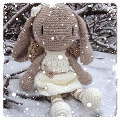 Crazy in Yarn: Our patterns Crochet Patterns Amigurumi, Crochet Dolls, Knitting Patterns, Crochet Bunny, Crochet For Kids, Crochet Hook Set, Bunny Rabbit, Teddy Bear, Toys