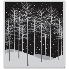 Hero Arts Cling Stamps-Winter Trees | Overstock.com Shopping - The Best Deals on Wood Stamps