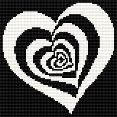 ♥ Korsstygns-Arkivet ♥: HJÄRTA-KORSSTYGNSMÖNSTER. Heart cross stitch chart