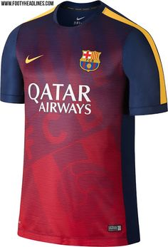 New FC Barcelona 2015 Training and Pre-Match Shirts Released - Footy Headlines