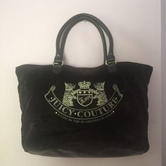Juicy Couture Velvet Black Purse Juicy Couture Velvet Black Purse. Magnetic top closure, 1 zipper Juicy Couture Bags