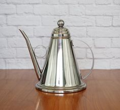 1960s Rare Vintage VeV INOX Tea Kettle, Teapot, Coffee Pot 18/10 Made in Italy