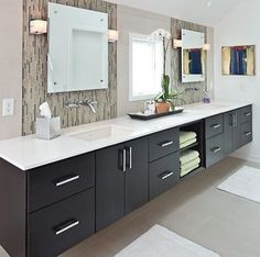 photo of black bathroom project in indianapolis in by adam gibson design