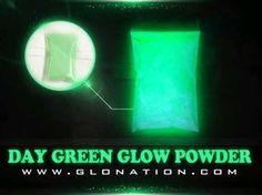 Green Triple Glow Powder GloNation Same color day & night
