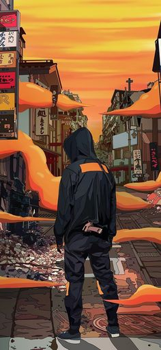 Mad Dog Jones is an artist from Toronto that through his illustrations brings you into a future very similar to cyberpunk Blade Runner's soul. Dope Cartoon Art, Cartoon Kunst, Anime Kunst, Anime Art, Aesthetic Art, Aesthetic Anime, Fullhd Wallpapers, Dope Kunst, Cyberpunk Kunst