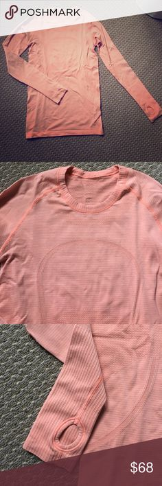 Lululemon swiftly tech shirt!! Gently worn.  Orange. Classic gym shirt for all your workouts. <<<<<top 10% seller>>>>> lululemon athletica Tops
