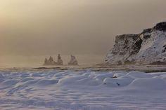 Iceland's South Coast Reynisdrangar from Vik Black Sand Beach