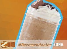 """La recomendación del día de hoy: """"Frappé de chocolate"""" #Tefacir te espera con sus deliciosas bebidas """"Ambiente, sabor y calidad ZONA te lo da"""""""