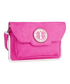 Look what I found on #zulily! Fuchsia Flap-Over Shoulder Bag by MKF Collection #zulilyfinds