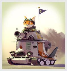 Mike Yamado cat in tank print