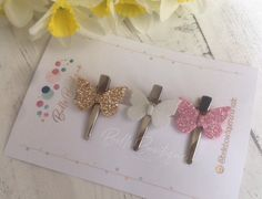 Excited to share this item from my shop: Girls Hair Clip Barrette Pack of 3 Butterfly Glitter Fringe Clips pink white gold Pink White, White Gold, Baby Hair Clips, Barrette, Color Show, Girl Hairstyles, Headbands, Special Occasion, Butterfly