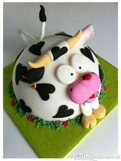 Cow fondant cake