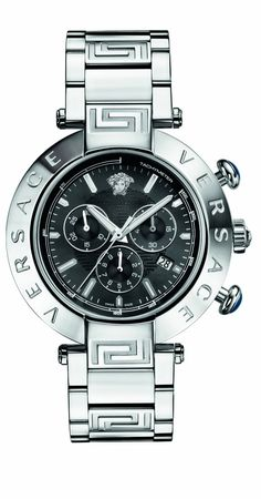 $1,995.00 Versace #Mens Reve Chrono, Round, Stainless Steel, Date #Watch