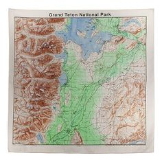 Grand Tetons Topographical Map Bandana *** You can get additional details at the image link.