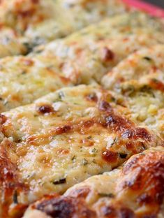 Chewy, cheesy breadsticks with mozzarella, parmesan, garlic and fresh chopped…