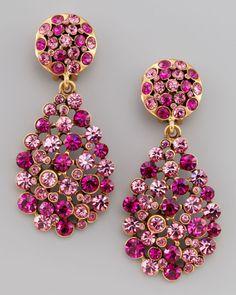 Oscar De La Renta Multistone Teardrop Earrings in Purple (fuchsia) - Lyst