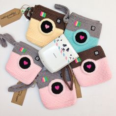 Happie Scrappie — Pouch: Instagram Inspired Crochet Pouch - For Instax Share Printer