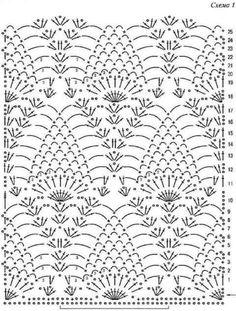 Patroon voor een rechte sjaal