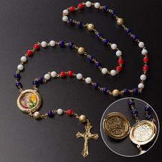 Terço São Jorge Com Pedras De Jade Folheado A Ouro 18k - Nossa Sagrada  Família c40ceda45e