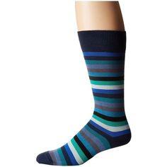 Paul Smith Thol Stripe Sock (Multi) Men's Crew Cut Socks ($30) ❤ liked on Polyvore featuring men's fashion, men's clothing, men's socks, mens striped socks, mens crew socks, mens socks, mens cotton socks and paul smith mens socks