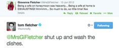 When they had this exchange on Twitter and it made our day: | 22 Moments Tom And Giovanna Fletcher Restored Our Faith In True Love