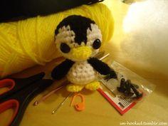 Tiny crochet penguin