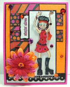 Break out your bell bottoms and your psychedelic jumpsuits 'cause we're headed back to the groovy days of disco fever! Flower Cards, Digital Image, Psychedelic, I Card, Embellishments, Birthday Cards, Create, Places, Projects