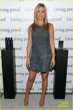 Jennifer Aniston poses for a pic with hairstylist Chris McMillan at the Living Proof Good Hair Day Web Series launch held at The Royalton Hotel on Wednesday (May…